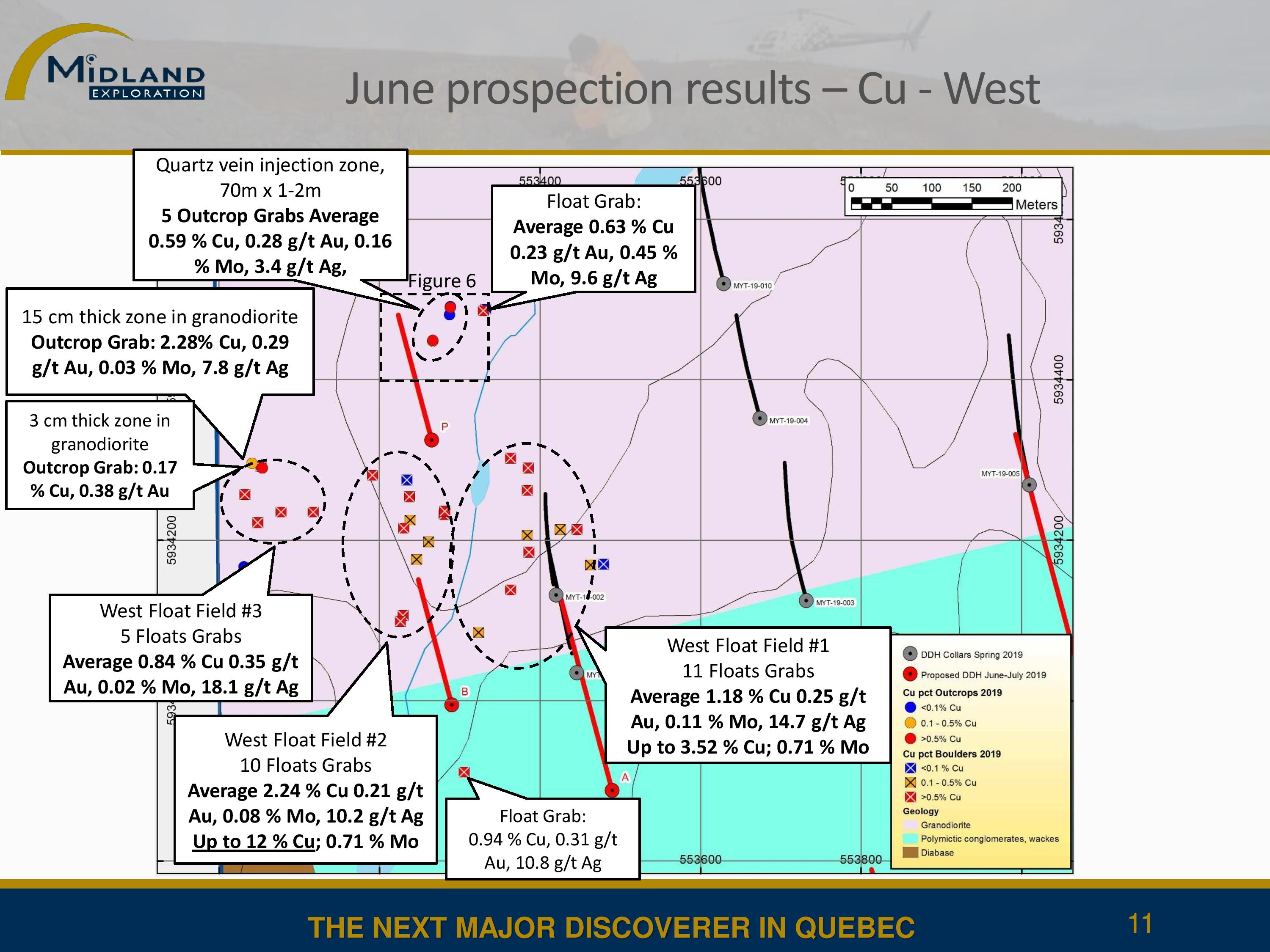 June prospection results - West