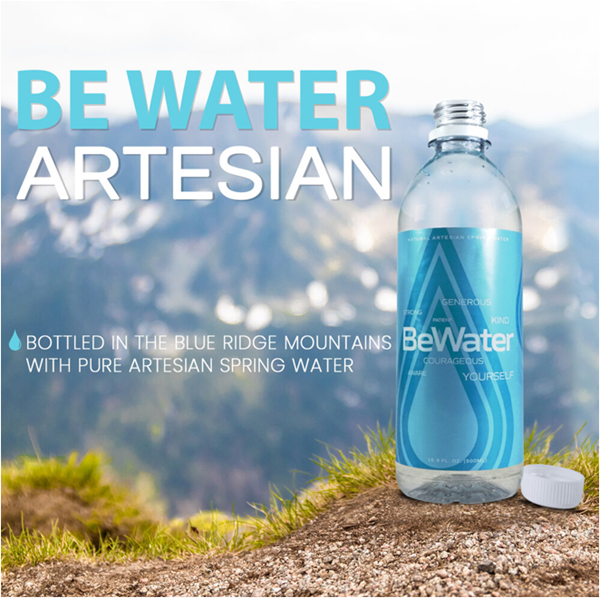 Be Water Artesian Logo