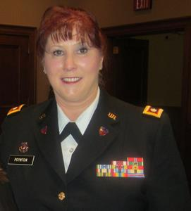 "Lieutenant Colonel (Ret) Kathryn Poynton:   Kath has over 32 years of military service in staff positions for the National Guard Bureau and U.S. Army. She has received numerous awards during her service to include: Bronze Star, Legion of Merit, Meritorious Service Medal (5), Army Commendation Medal (3), Army Achievement Medal (2), Iraqi Campaign medal, Office of Secretary of Defense staff Badge and Department of the Army staff badge. Kathy also served as the National Director of Event Operations and Specialty Events for ""Hiring our Heroes""; she developed initiatives and communications strategies to assist transitioning service members, and veterans for find meaningful employment."