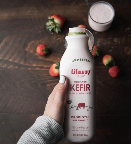 Lifeway Organic Strawberry Grassfed Kefir