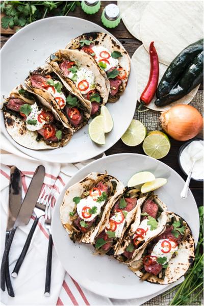 Local Crate Carne Asada Tacos with Poblano Crema by Chef Daniel Tellez - Locally Sourced in California