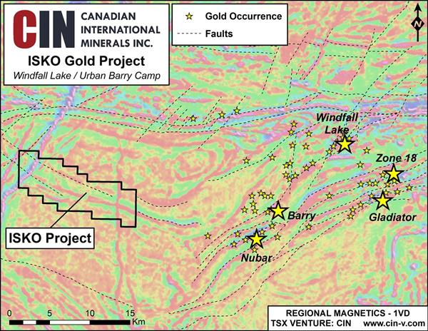 ISKO Gold Project - Windfall Lake / Urban-Barry Camp
