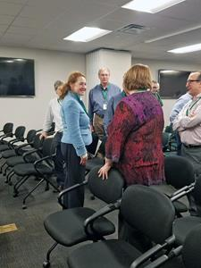 Congresswoman Elizabeth Esty touring the FuelCell Energy manufacturing facility in Torrington, CT