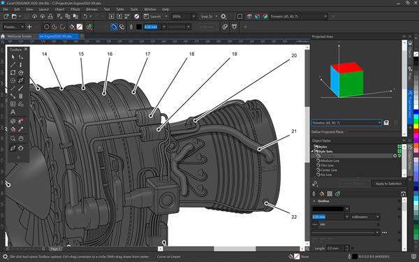 CorelDRAW Technical Suite 2020_Isometric Tools