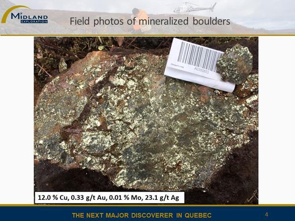 Figure 4 Mineralized boulders