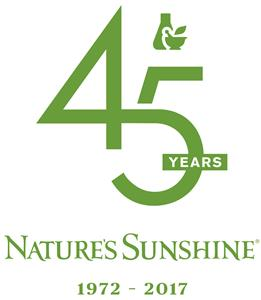 Nature's Sunshine Products, Inc. 45th Anniversary Logo