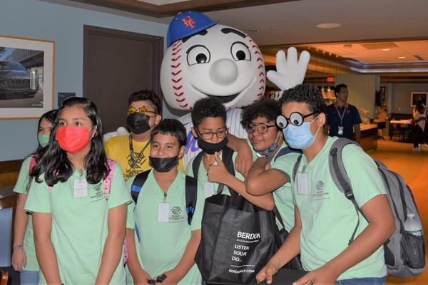 Berdon's program, titled Personal Branding and Career Preparedness, took place on Wednesday, July 21st, at Citi Field and follows a similar format as Math Hits by incorporating gaming and teamwork into the education and learning process.