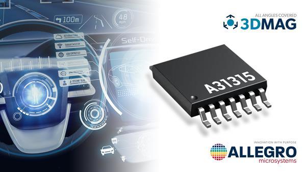 Allegro's A31315 3DMAG position sensor enables next-generation ADAS applications.
