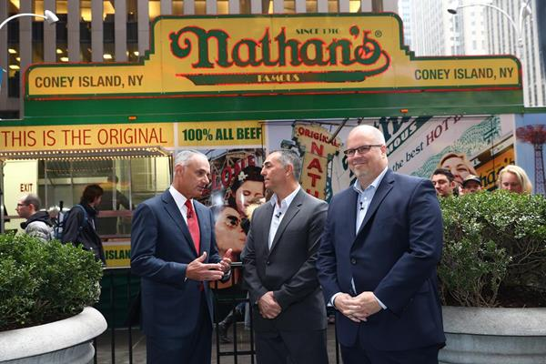 Nathan's Famous MLB Announcement