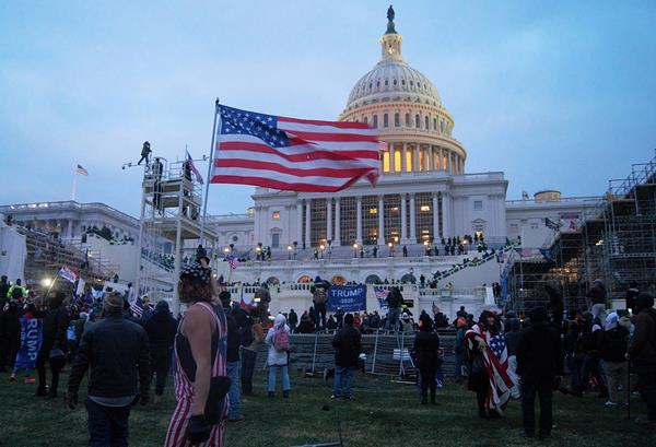 PHOTO CREDIT: Tyler Merbler, CC BY 2.0, via Wikimedia Commons - The storming of the US Capitol in Washington, DC on January 6th, 2021