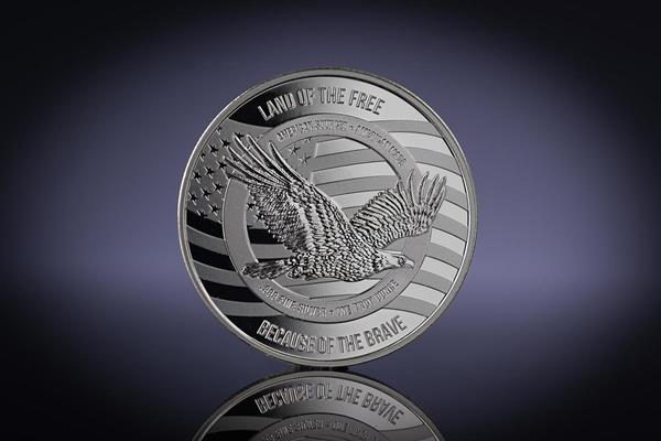 The Reverse side of the 'Honor and Gratitude' Veterans Day 1 oz Silver Round