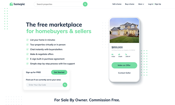 Homepie: Free Listing, Free Contract, Sell Your Home By Owner