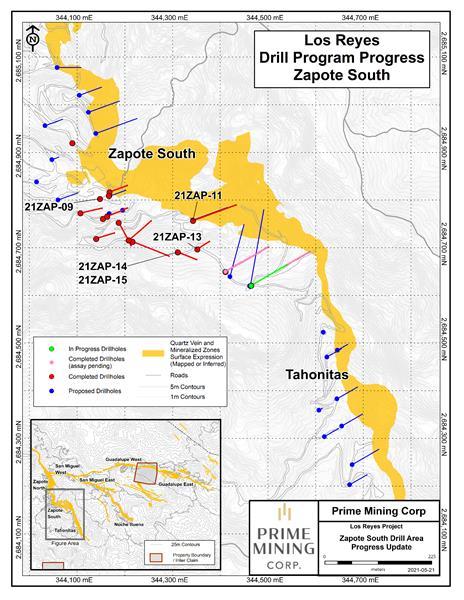 Zapote South Drill Progress Update Figure Final