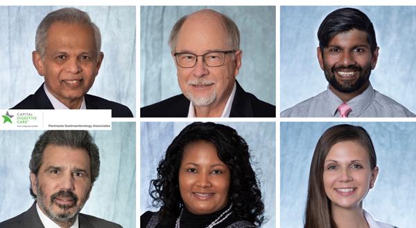 Peninsula Gastroenterology Associates' physicians and advanced care providers