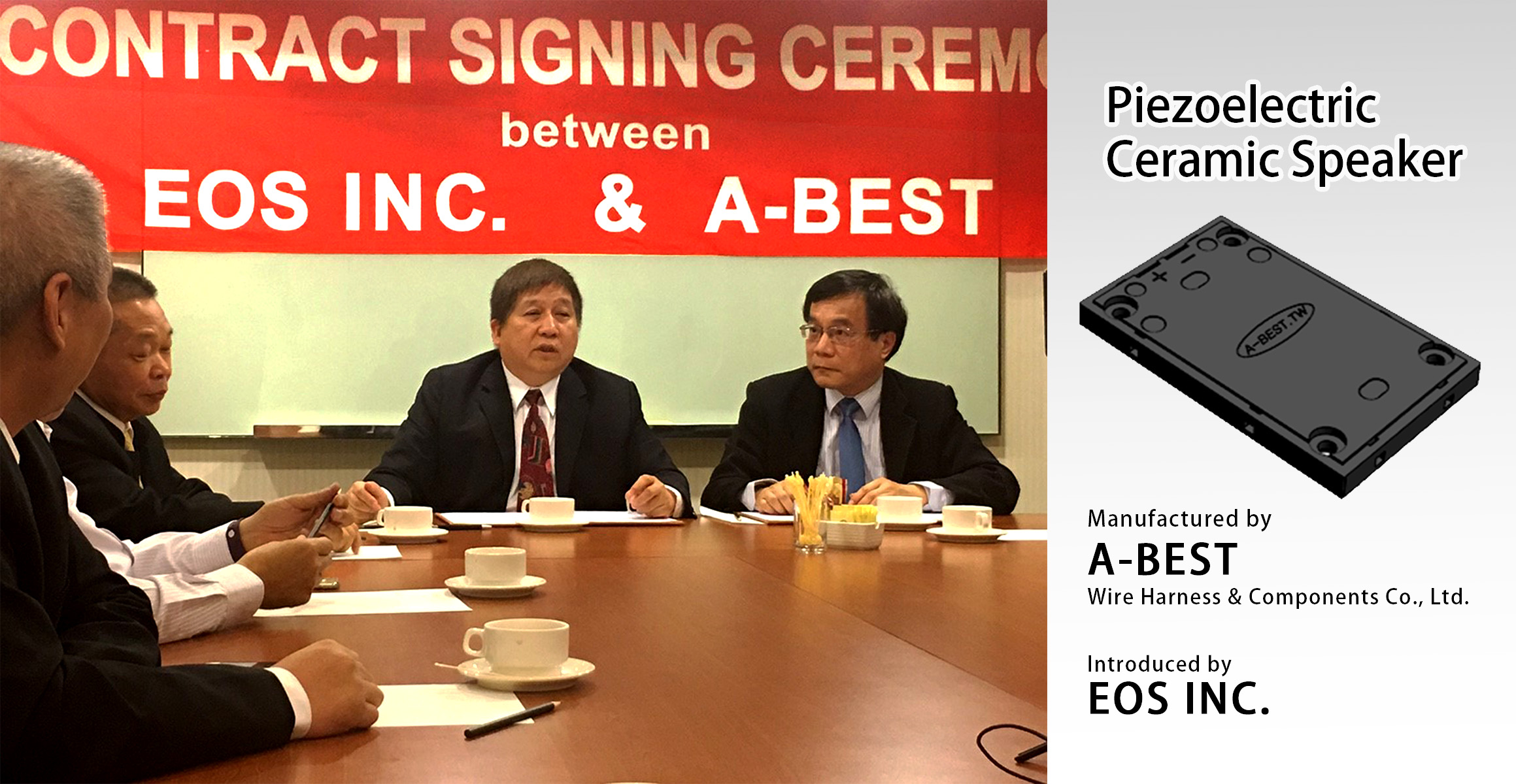 EOS INC & A-BEST CONTRACT SIGNING Photo