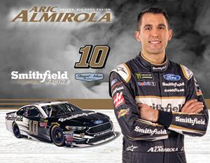 SMITHFIELD CELEBRATES ARIC ALMIROLA'S FIRST SEASON IN THE NO. 10 SMITHFIELD FORD FUSION