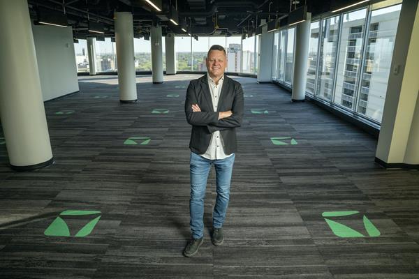Vendasta CEO Brendan King at the company's new office in downtown Saskatoon.