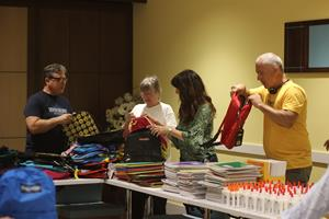 Back pack compilation at the Clearwater Community Volunteers Center