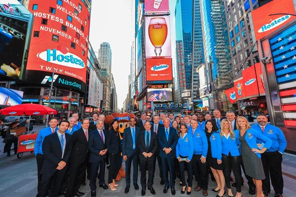 Hostess Brands, Inc. Rings The Nasdaq Stock Market Opening Bell in Celebration of Listing
