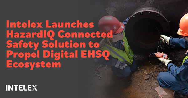 Intelex Technologies, ULC, a leading global provider of SaaS-based Environmental, Health, Safety and Quality (EHSQ) management software, today announced the evolution of connected safety with the general availability of Intelex HazardIQ, a new connected safety solution that uses the power of technology to protect the lives of workers in high and medium risk work environments.