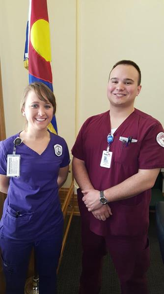 Nursing students from Arapahoe Community College and Pueblo Community College.