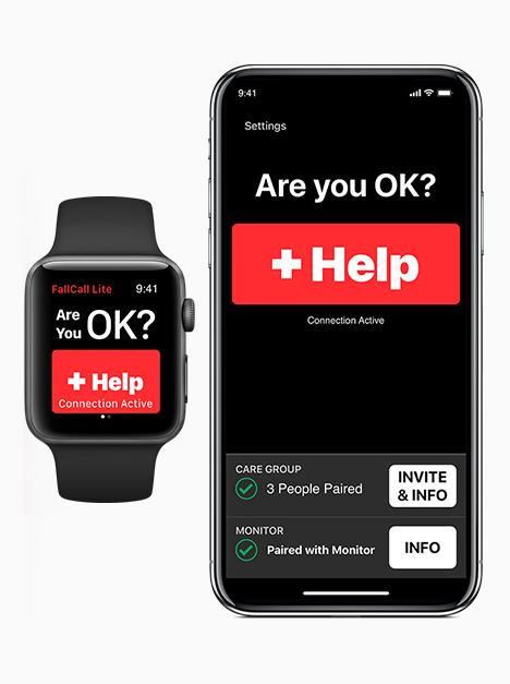FallCall App adopts Siri Shortcuts: Use your voice to