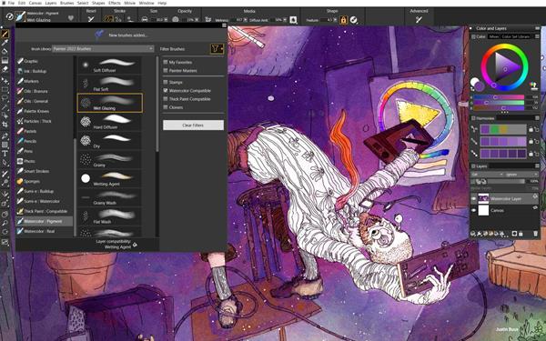 Painter 2022 Watercolor Workflow_EN