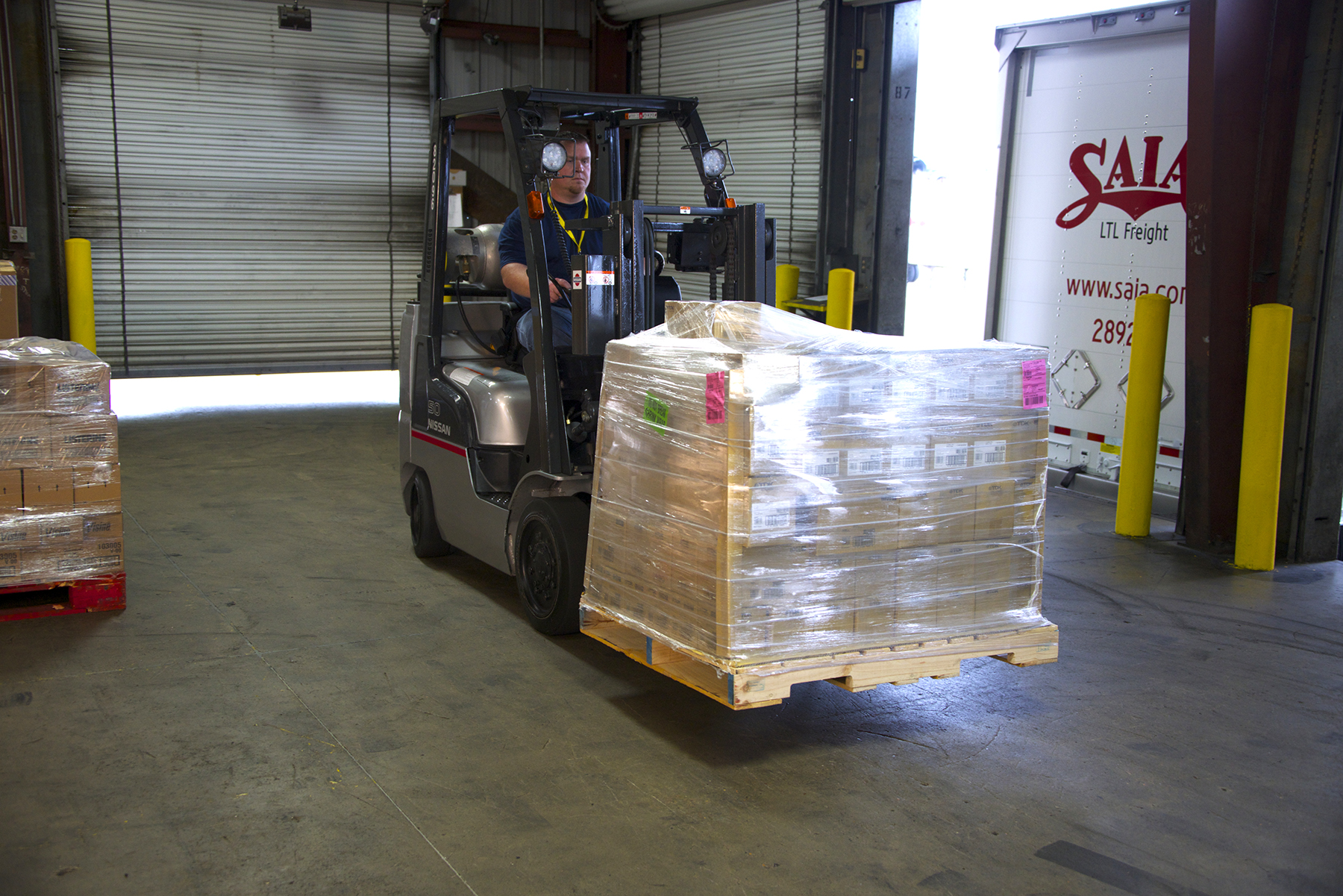 Saia LTL Freight works diligently to safeguard its customers' freight from pickup to delivery.