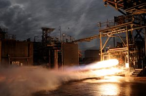 3-D Printed Bantam Rocket Engine Undergoes Testing