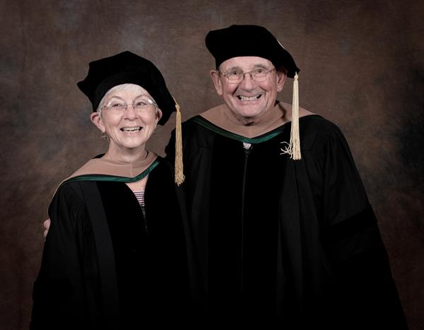 Longtime Maine residents Joseph and Suzanne Cyr both attended Husson University where Sue received an associate degree in legal secretarial science. A couple of years after graduating, Sue worked for college President Chesley Husson, Sr. Joe began a career in transportation and eventually became the owner/operator of John T. Cyr and Sons in 1967.   Later in her career, Sue joined Joe at Cyr Bus Lines and began Cyr Northstar Tours. Joe has been an active member of Husson's Board of Trustees since 1992, while Sue is a member of the University's Women's Philanthropy Council. They have both been loyal supporters of growth and scholarship initiatives at Husson. These initiatives have enhanced the University's ability to deliver a world class, professional education to its students.