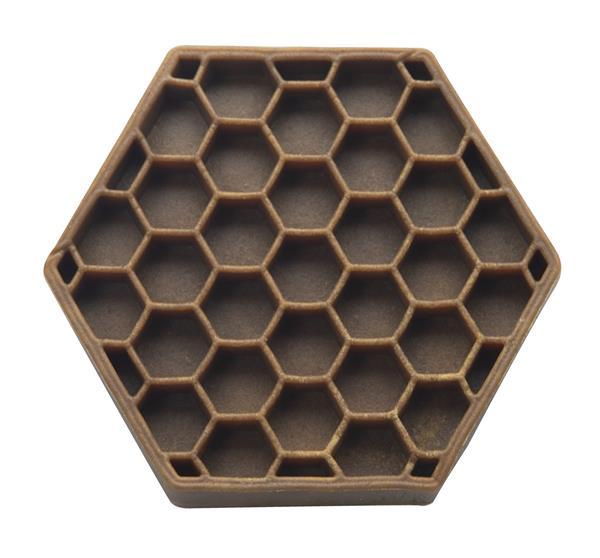 Patented honeycomb design.