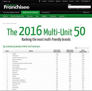 Multi-Unit Franchisee magazine screenshot