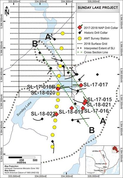 North American Palladium - Sunday Lake Exploration Update - Figure 1