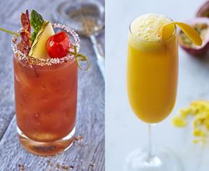 Fogo Bloody Mary and Passion Fruit Mimosa