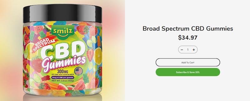 Smilz CBD Gummies Review - Pure Broad Spectrum Hemp