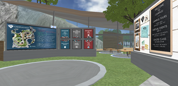 Welcome area of the DStewartEdu Campus powered by Virbela