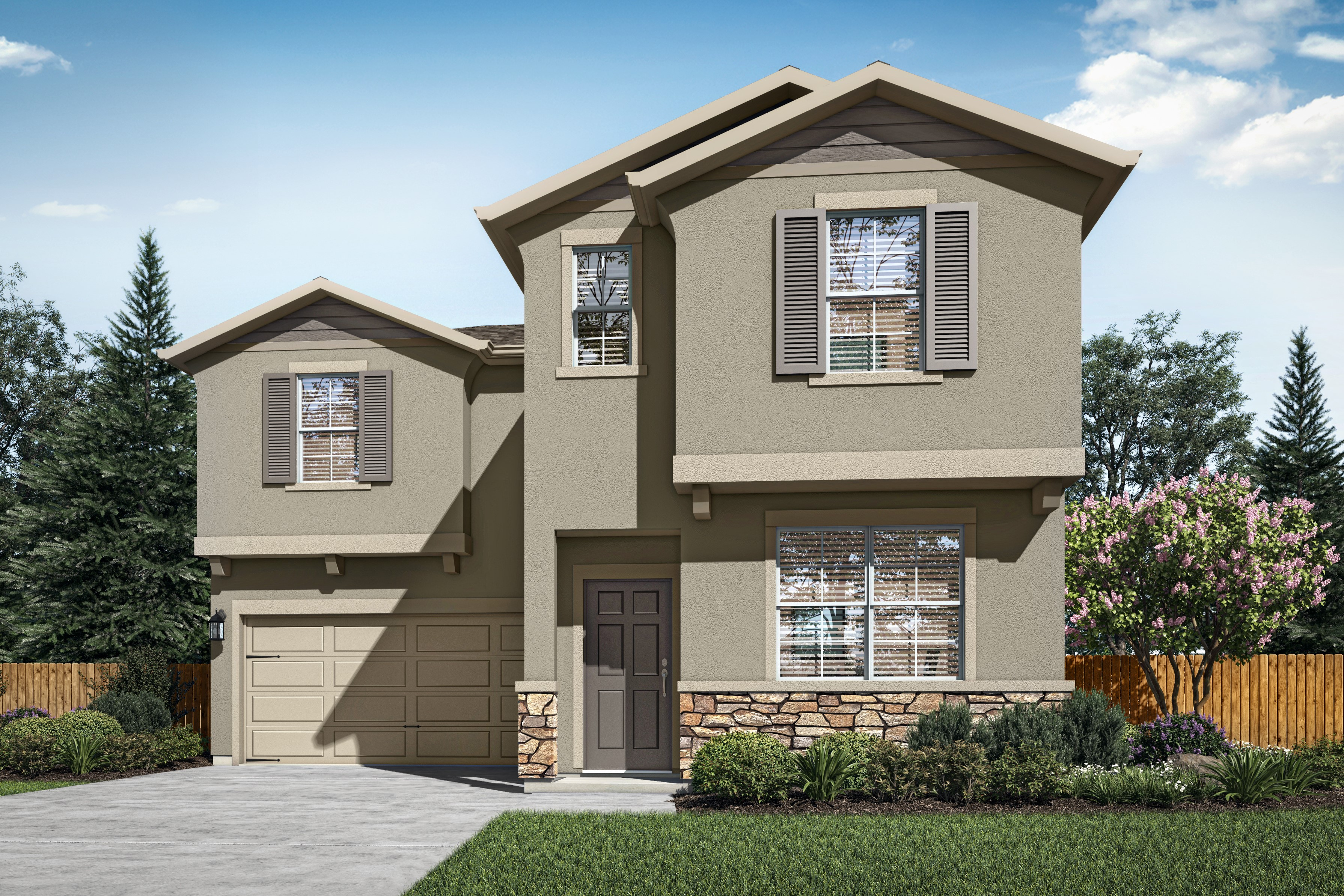 The Magnolia Plan is a brand-new, three-bedroom home featured at The Arbors in Linda, California.
