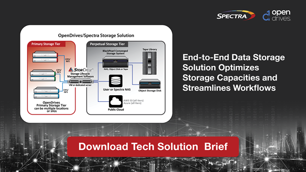 Spectra StorCycle and OpenDrives technical solution brief promo