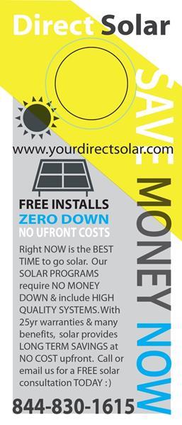 Direct Solar SAVE MONEY June 21