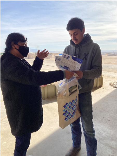 As part of the Reduce the Risk Campaign, trained community health workers or promotoras provide information on public health measures to traditionally hard-to-reach communities in West Texas and Southern New Mexico. Recent focus group findings will all for refined messaging related to vaccine hesitancy.