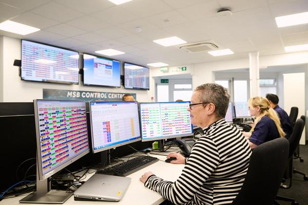 MSB Control Center powered by TeleTracking