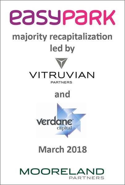 Mooreland Partners advises EasyPark on it majority recapitalization led by Vitruvian Partners and Verdane Capital