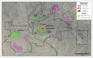Figure 2: Regional map of the Rattlesnake Hills Gold Project