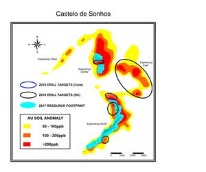 Figure 1, plan map Castelo de Sonhos
