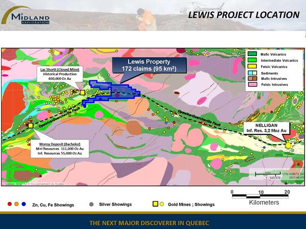 Figure 2 Lewis Project Location