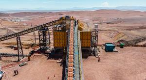 Secondary crushing circuit commissioning with ore