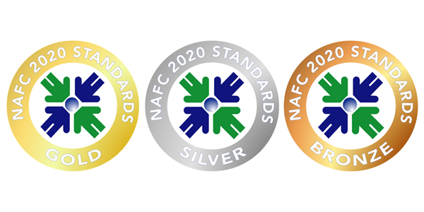 NAFC 2020 Quality Standards Gold, Silver and Bronze Rating Seals