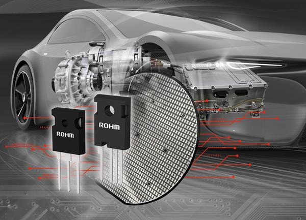 ROHM's 4th Generation 1200V SiC MOSFETs optimized for automotive powertrain systems, including the main drive inverter, as well as power supplies for industrial equipment.