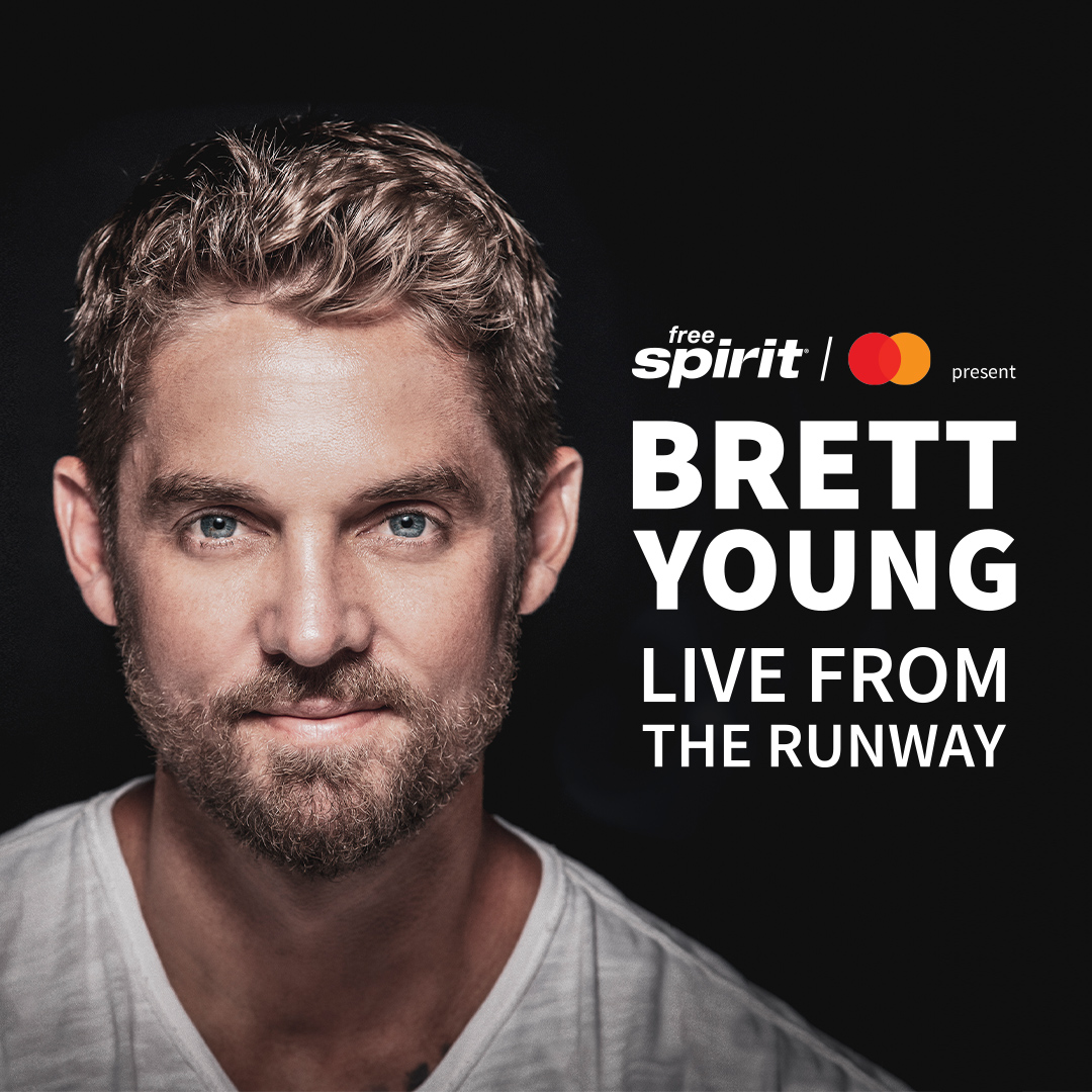 Spirit Airlines and Mastercard Present Brett Young¡¯s  ¡®Live from the Runway¡¯ Virtual Concert
