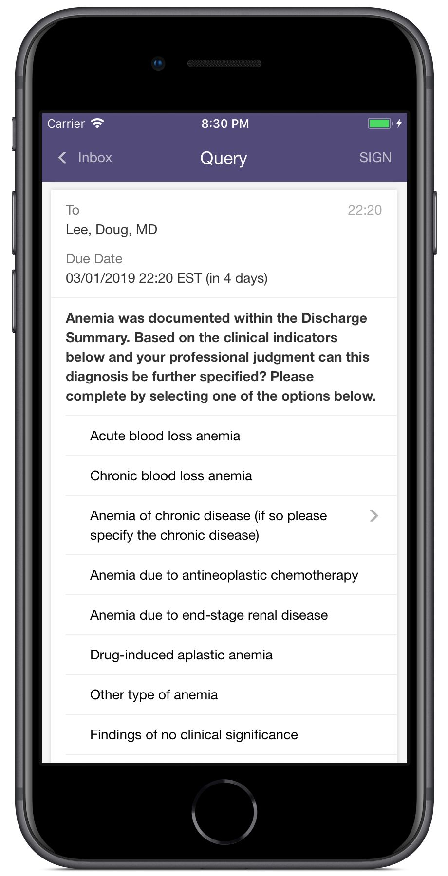 AHIMA templates combined with Artifact Health mobile solution allow physicians to answer queries in seconds